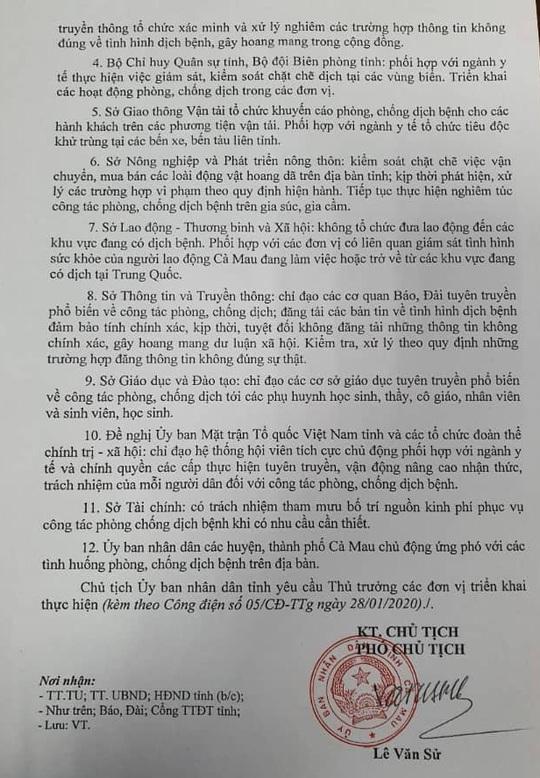 Chủ tịch Cà Mau khuyến nghị hạn chế di chuyển du khách Trung Quốc trước dịch corona - Ảnh 2.