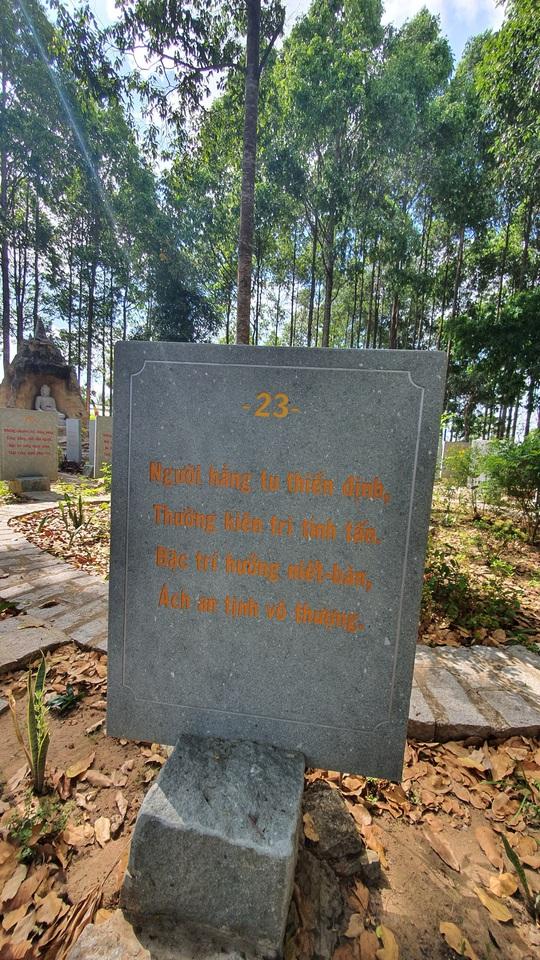 CLIP: Ngắm vườn kinh đá độc đáo của ngôi chùa nằm bên cạnh dòng sông Hậu - Ảnh 12.