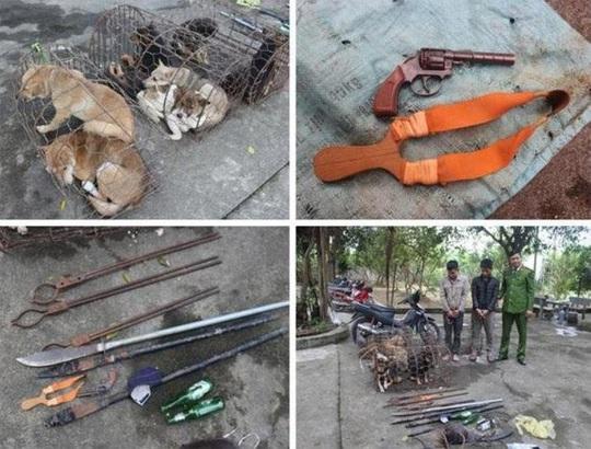 Bị vây bắt, nhóm trộm chó liều lĩnh chém bị thương 2 chiến sĩ công an - Ảnh 1.