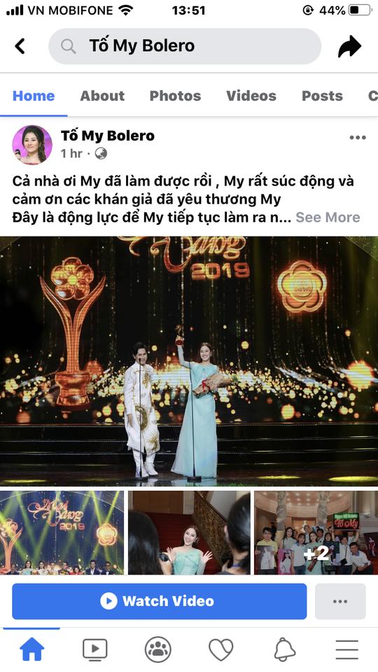 Facebook nghệ sĩ tràn ngập lời cảm ơn Giải Mai Vàng - Ảnh 3.