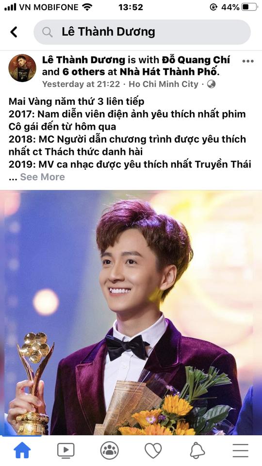 Facebook nghệ sĩ tràn ngập lời cảm ơn Giải Mai Vàng - Ảnh 2.