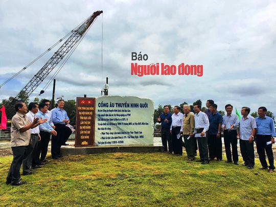 Chính thức vận hành cống ngăn mặn, giữ ngọt lớn nhất Việt Nam - Ảnh 1.