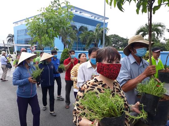 VWS trồng cây xanh và hoa trên đường vào Khu Liên hợp Xử lý chất thải Đa Phước - Ảnh 2.