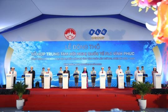 FLC động thổ Tổ hợp Trung tâm Hội nghị Quốc tế tại Vĩnh Phúc - Ảnh 1.