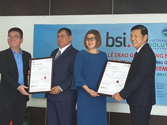 VWS nhận chứng chỉ ISO 9001 và 14001 - Ảnh 1.