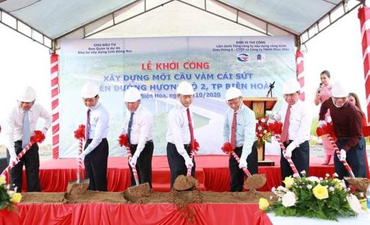 Khởi công cầu Vàm Cái Sứt thuộc Hương Lộ 2, TP Biên Hòa - Ảnh 1.
