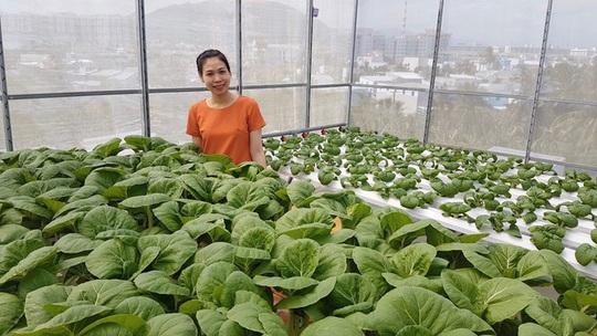 Gia đình trẻ biến sân thượng trống thành 'khu vườn trên mây' - Ảnh 1.