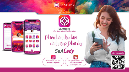 SeABank ra mắt ứng dụng ngân hàng số dành riêng cho phái đẹp - SeALady - Ảnh 1.