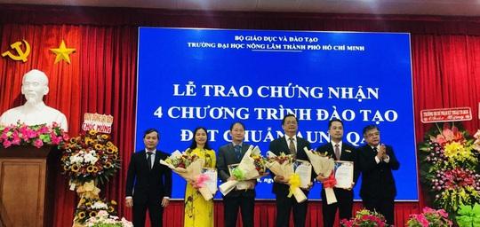 4 chương trình đào tạo của Trường ĐH Nông lâm TP HCM đạt chuẩn AUN-QA - Ảnh 1.