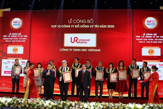 URC được vinh danh top 10 công ty đồ uống uy tín nhất Việt Nam năm 2020 - Ảnh 1.