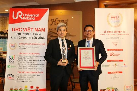 URC được vinh danh top 10 công ty đồ uống uy tín nhất Việt Nam năm 2020 - Ảnh 2.