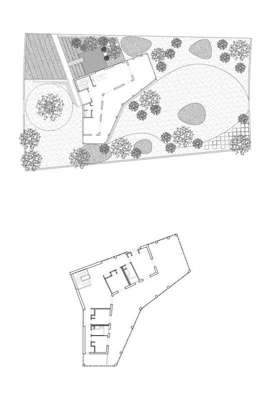 Ngôi nhà gạch với mái bê tông gấp nếp - Ảnh 11.
