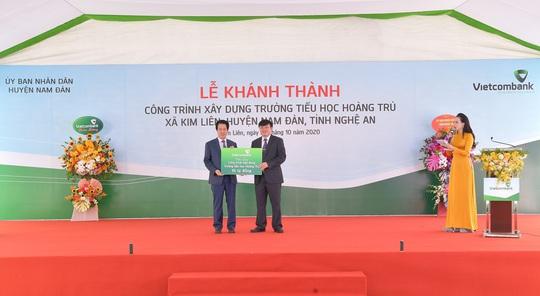Vietcombank xây dựng trường tiểu học trên quê hương Chủ tịch Hồ Chí Minh - Ảnh 1.