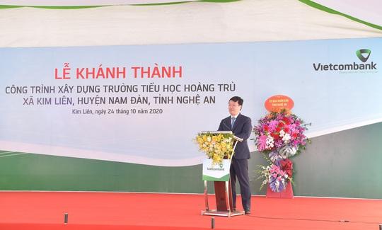 Vietcombank xây dựng trường tiểu học trên quê hương Chủ tịch Hồ Chí Minh - Ảnh 2.