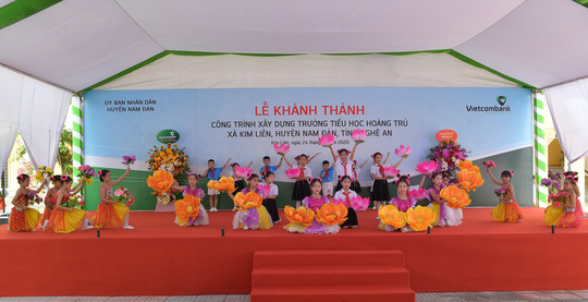 Vietcombank xây dựng trường tiểu học trên quê hương Chủ tịch Hồ Chí Minh - Ảnh 3.