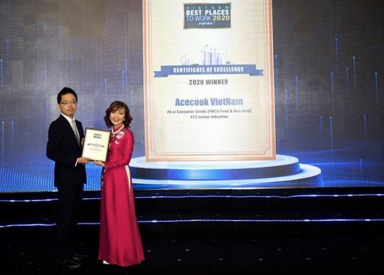 Acecook Việt Nam thuộc Top 10 doanh nghiệp tiêu biểu có nguồn nhân lực hạnh phúc 2020 và Top 15 nơi làm việc tốt nhất Việt Nam - Ảnh 1.