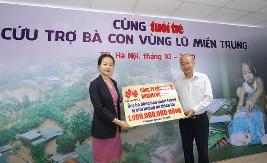 Huawei Việt Nam ủng hộ đồng bào miền Trung 1 tỉ đồng - Ảnh 1.