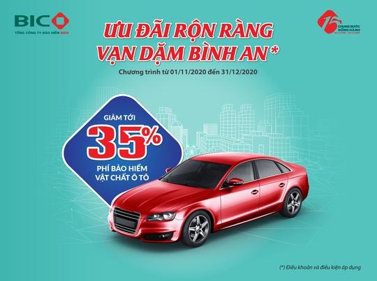 Ưu đãi hấp dẫn dành tặng khách hàng mua bảo hiểm ôtô tại BIC - Ảnh 1.