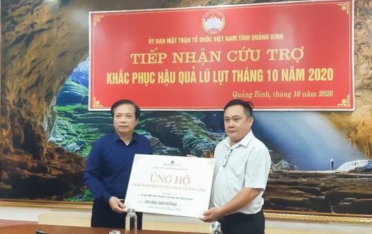 Đất Xanh Miền Trung ủng hộ 400 triệu đồng khắc phục lũ lụt tại miền Trung - Ảnh 1.