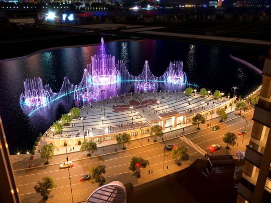 Khánh thành Quảng trường Diamond và khởi công Nhạc nước tại Khu Đô thị Vạn Phúc - Ảnh 2.