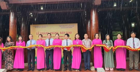 Saigontourist Group bàn giao bốn hạng mục đầu tư tài trợ tại khu di tích Kim Liên - Ảnh 1.