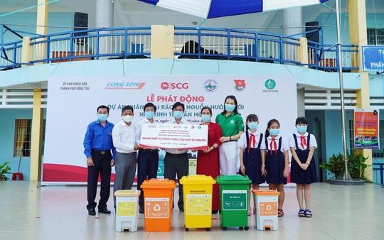 Dự án phân loại rác tại nguồn được hưởng ứng tại trường Tiểu học Long Sơn, tỉnh Bà Rịa-Vũng Tàu - Ảnh 1.