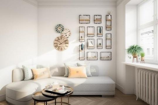 6 cách bài trí phòng khách tông xám đẹp tinh tế và bắt mắt - Ảnh 1.