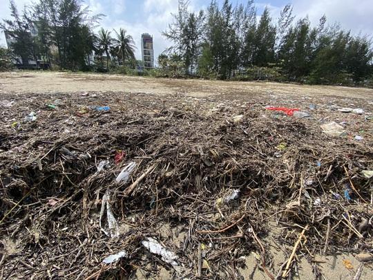 CLIP: Rác tràn ngập bãi biển Đà Nẵng sau bão số 13 - Ảnh 8.