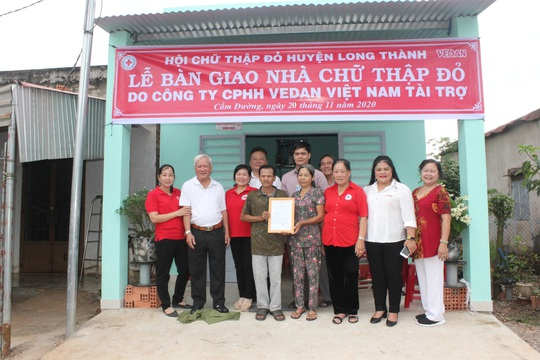 Vedan Việt Nam trao tặng 4 căn nhà Chữ thập đỏ - Ảnh 2.