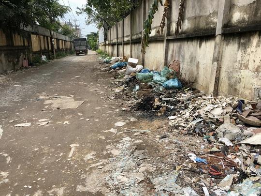 Cận cảnh hàng trăm tấn rác tấn công Khu tái định cư 38 ha ở quận 12 - Ảnh 1.