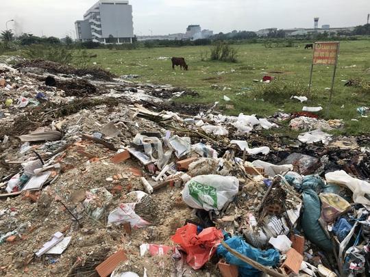 Cận cảnh hàng trăm tấn rác tấn công Khu tái định cư 38 ha ở quận 12 - Ảnh 4.