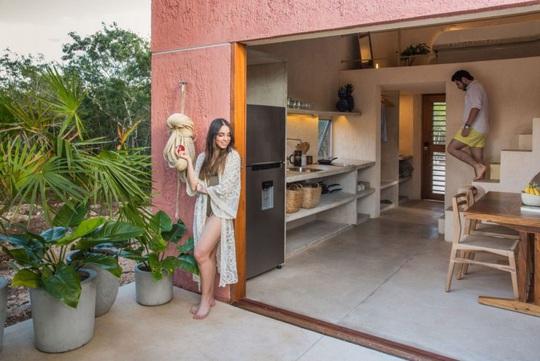Ngôi nhà hòa mình vào thiên nhiên hoang dã ở Mexico - Ảnh 7.