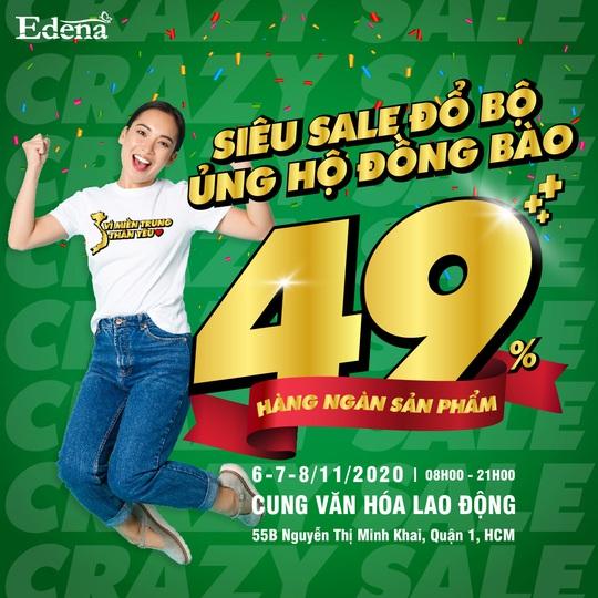 Edena giảm giá 50% hàng ngàn sản phẩm tại Crazy Sale 2020 - Ảnh 1.
