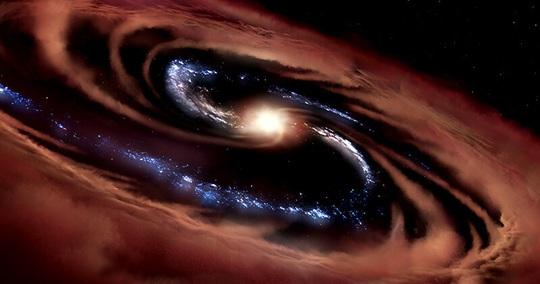 Sống sót dù bị lỗ đen nuốt, quái vật sinh ra 100 mặt trời mỗi năm - Ảnh 1.
