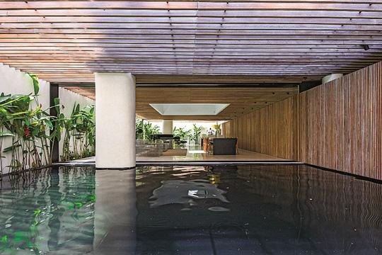 Ngôi nhà đẹp như bản tình ca với những ô vuông xanh ngẫu hứng - Ảnh 3.