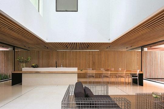 Ngôi nhà đẹp như bản tình ca với những ô vuông xanh ngẫu hứng - Ảnh 4.