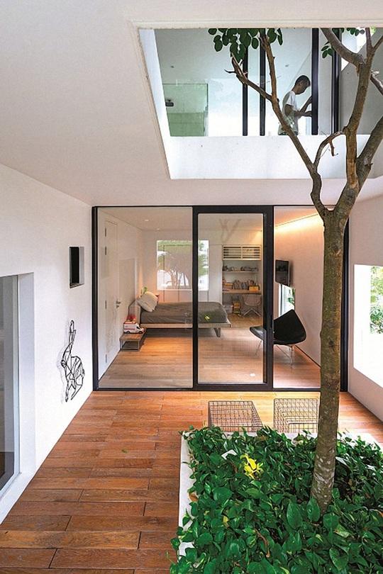 Ngôi nhà đẹp như bản tình ca với những ô vuông xanh ngẫu hứng - Ảnh 8.