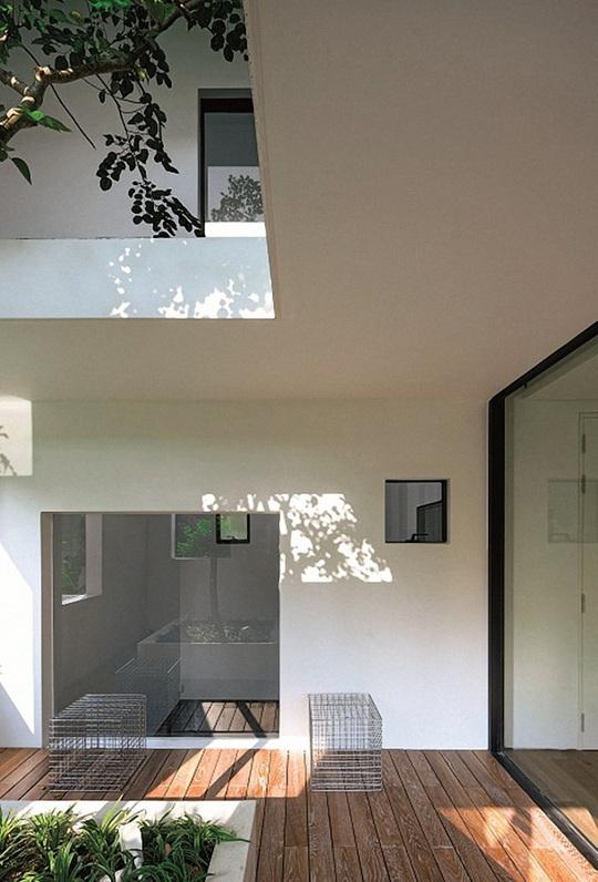 Ngôi nhà đẹp như bản tình ca với những ô vuông xanh ngẫu hứng - Ảnh 10.