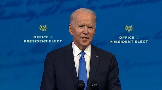Bài phát biểu đầu tiên của ông Biden với tư cách tổng thống tân cử - Ảnh 1.