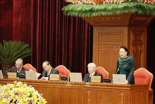 Chủ tịch Quốc hội Nguyễn Thị Kim Ngân điều hành phiên bế mạc Hội nghị Trung ương 14 - Ảnh 1.