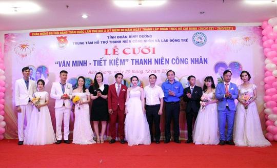 Bình Dương: Tổ chức lễ cưới tập thể cho công nhân khó khăn - Ảnh 1.