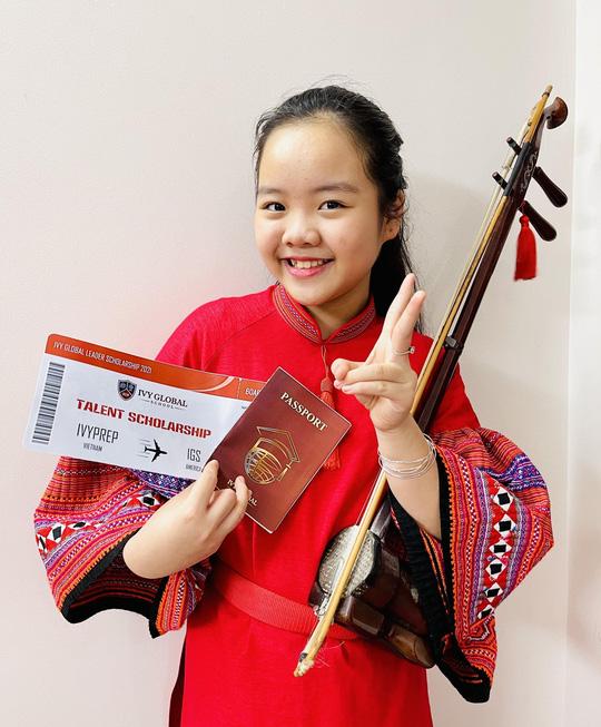 Cô bé mê đàn nhị giành học bổng phổ thông Mỹ - Ảnh 1.
