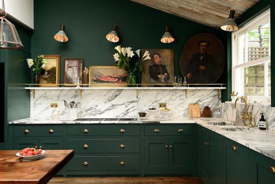 Những gam xanh tối màu tuyệt đẹp cho căn bếp hiện đại - Ảnh 2.