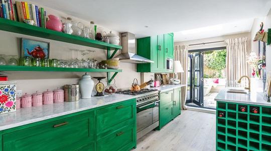 Những gam xanh tối màu tuyệt đẹp cho căn bếp hiện đại - Ảnh 5.
