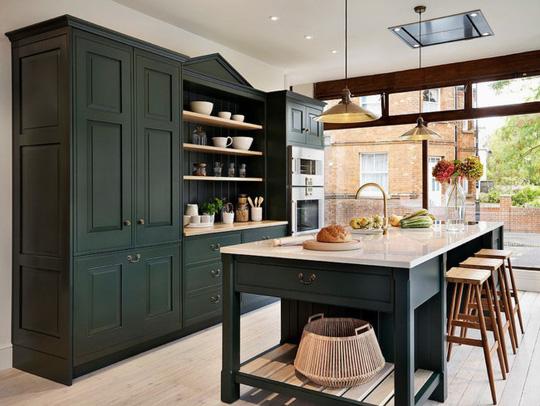 Những gam xanh tối màu tuyệt đẹp cho căn bếp hiện đại - Ảnh 6.