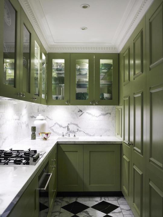 Những gam xanh tối màu tuyệt đẹp cho căn bếp hiện đại - Ảnh 9.