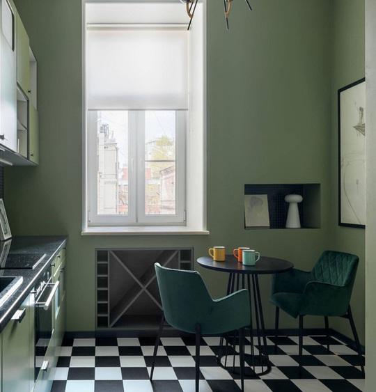 Những gam xanh tối màu tuyệt đẹp cho căn bếp hiện đại - Ảnh 10.