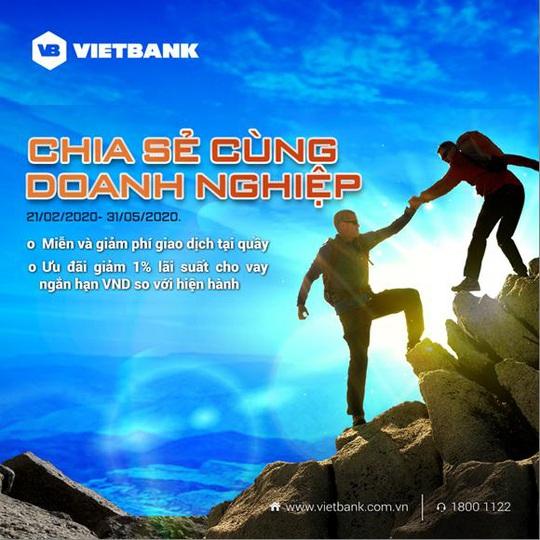 Hỗ trợ doanh nghiệp vượt qua Covid -19, Vietbank giảm 1% lãi suất, miễn phí dịch vụ - Ảnh 1.