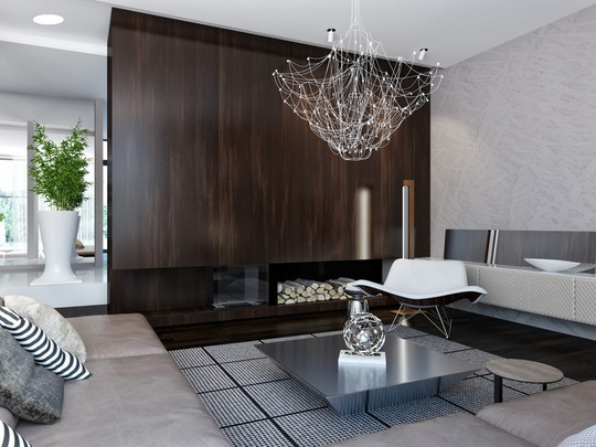 Ngôi nhà hiện đại sử dụng nội thất dạng hình học độc đáo - Ảnh 2.