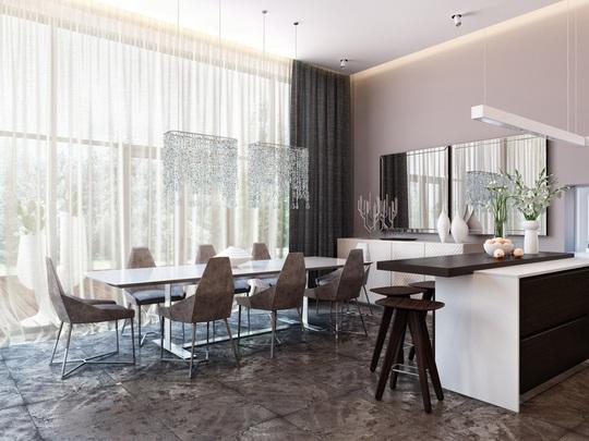 Ngôi nhà hiện đại sử dụng nội thất dạng hình học độc đáo - Ảnh 6.